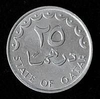 Монета Катара 25 дирхамов 1993 г.