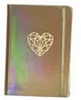 Блокнот на резинке A5 WB-5702 золото-голография, 13х19см 144листа клетка