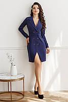 Платье-пиджак, №134, индиго
