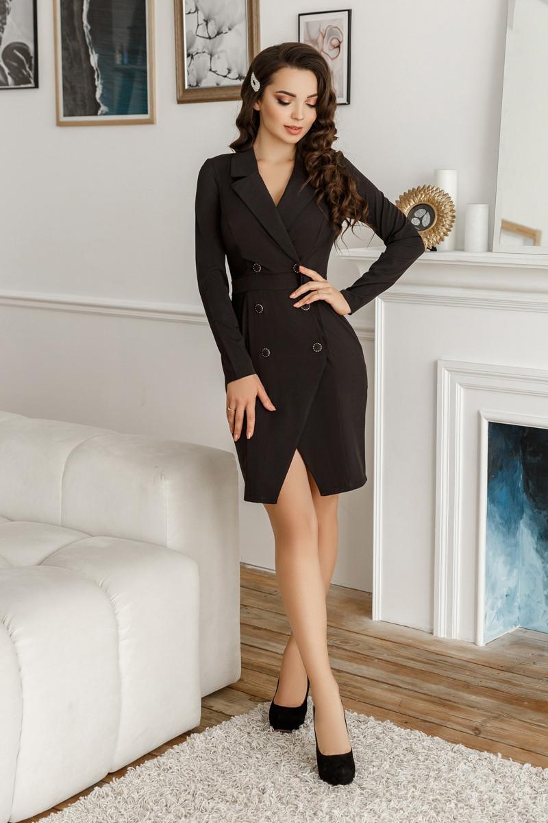 Сукня-піджак, №134, чорне, 42-46р.