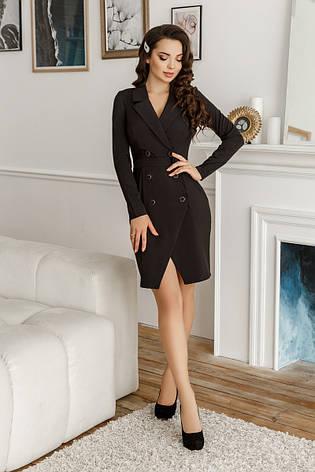 Платье-пиджак, №134, чёрное, 42-46р., фото 2