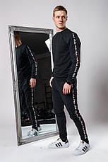 Мужской спортивный костюм c лампасами Fila серый, фото 3