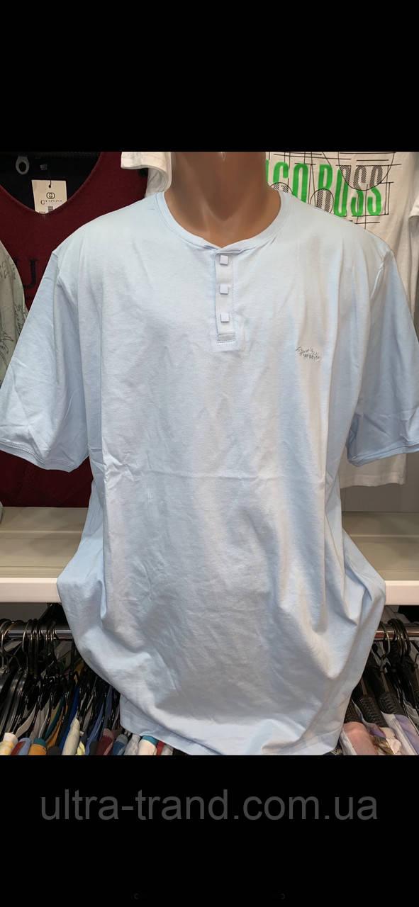 Мужские турецкие однотонные футболки больших размеров