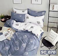 Сатиновое двуспальное постельное белье Lux - клубника