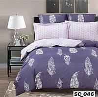 Сатиновое двуспальное постельное белье Lux - перо
