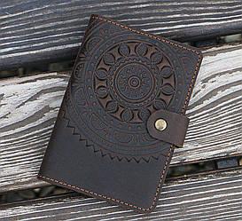 Обложка для документов ЭТНО коричневый 9.5*13.5см 03-8К