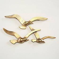 Набор 2х настенный декор Птицы золото w35см 1011623