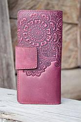 Кошелёк Цветок фиолетовый 9.5*19см 06-11Ф