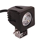 Фара дополнительная LED 10W (1х10W CREE T6) квадратная, 800lm, 9-32V (Flood) 950-990310001