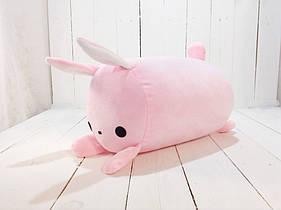 Мягкая игрушка подушка валик Strekoza заяц Флип-Флип 39см розовый