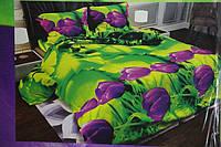 """3D Двоспальне постільна білизна """"Софія"""" тюльпани"""