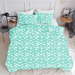 Комплект полуторного постельного белья CLOUD MINT WHITE