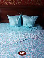 Двуспальное постельное белье бязь Bona Vita в горошек
