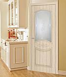 """Двери межкомнатные Омис Даниэлла СС+КР ПВХ"""" с рисунком на стекле, цвет дуб беленый, фото 2"""