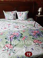 Семейное постельное белье бязь Bona Vita - Салатовое