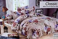 Двуспальный комплект постельного белья Classic - Розочки