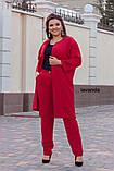 Женский брючный костюм двойка Костюмка Размер 48 50 52 54 56 58 60 62 В наличии 4 цвета, фото 5
