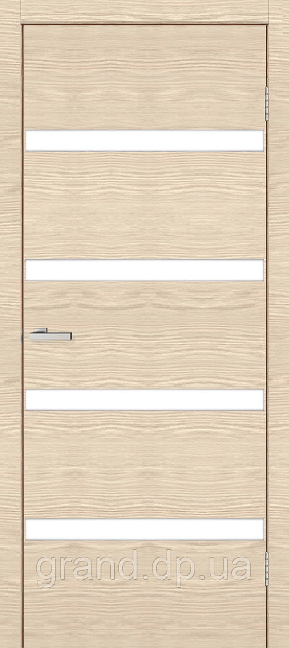 "Двери межкомнатные Омис Зеркало 4,4 ПВХ"" глухая, цвет дуб latte line"