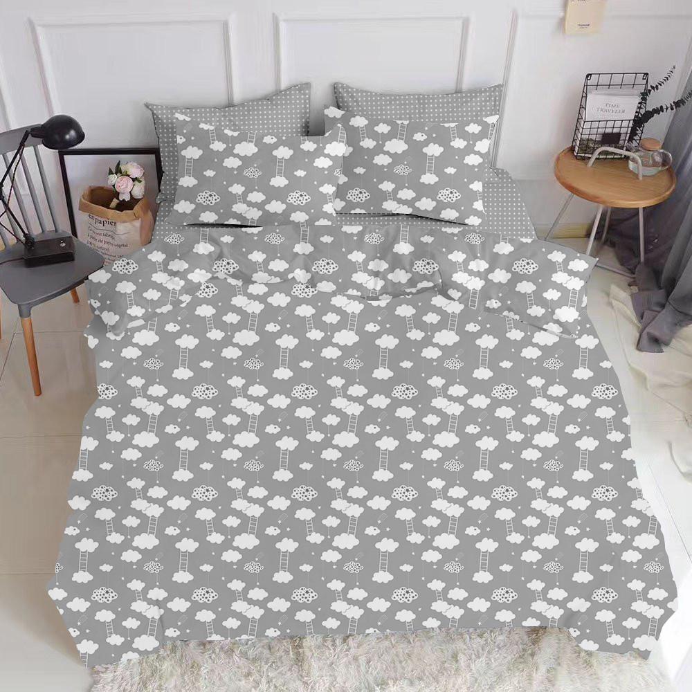 Комплект полуторного постельного белья CLOUD GREY GREY