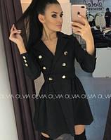 Женское платье черное 3 расцветки