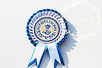 Медали для первоклассников белая голубым бархатом, фото 1