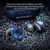 Bluetooth наушники Blitzwolf bw-fye5 Blue TWS Bluetooth 5.0 IPX6, фото 3
