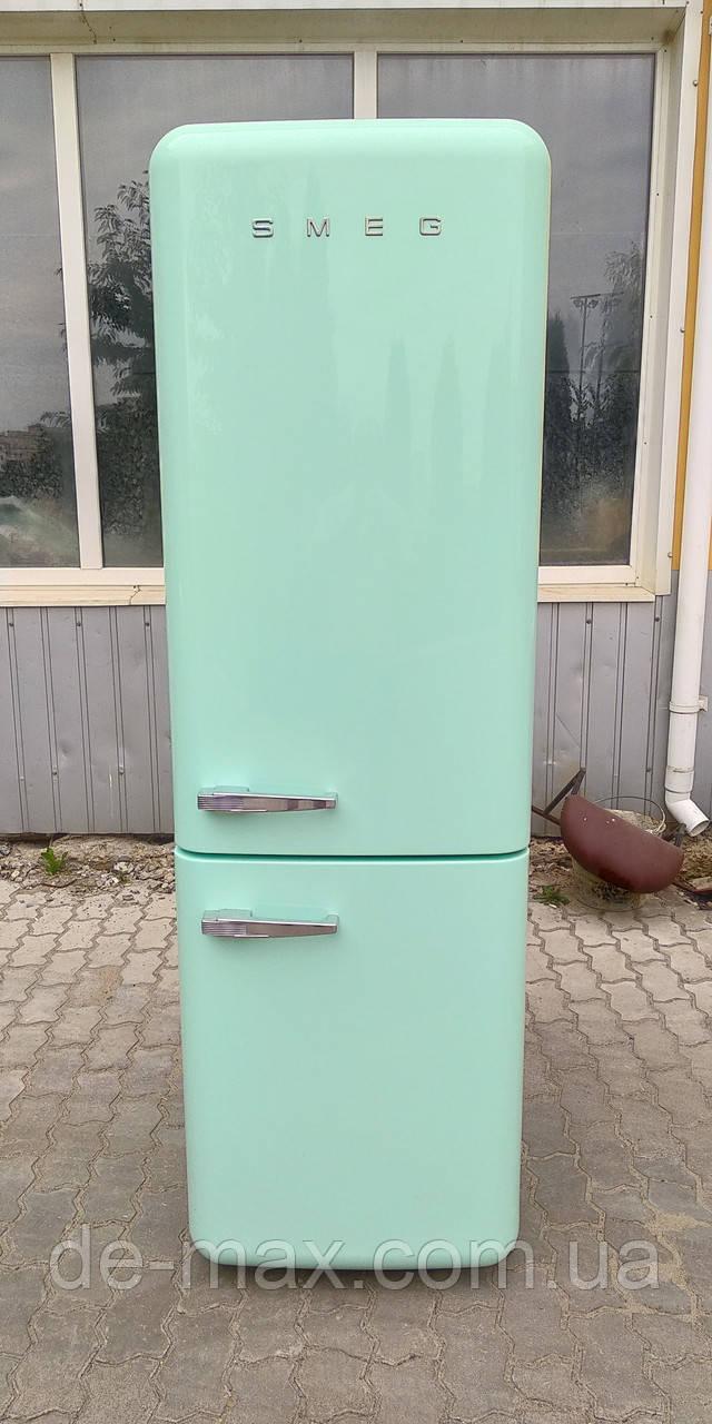 Ретро холодильник Смег Smeg FAB32LVN1 зеленый бирюзовый No Frost A++