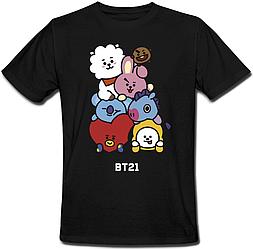 """Футболка BTS Bangtan Boys """"BT21"""" (чорна)"""