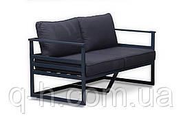 Дизайнерский металлический диван в стиле Лофт для дома, ресторана, офиса 142 см