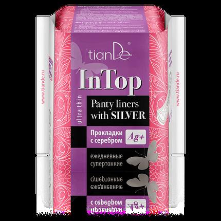 Прокладки InTop Тианде с серебром ежедневные cупертонкие 20 шт, фото 2