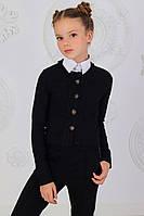 Детский пиджакидля девочек, чёрный, тёмно синий