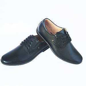 Черные туфли Kangfu на шнурках