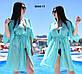 """Жіноча стильна пляжна туніка у великих розмірах 8044-(1-11) """"Шифон Зав'язка Міні"""" в кольорах, фото 10"""