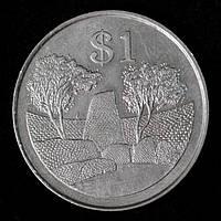 Монета Зимбабве 1 доллар 1980 г.