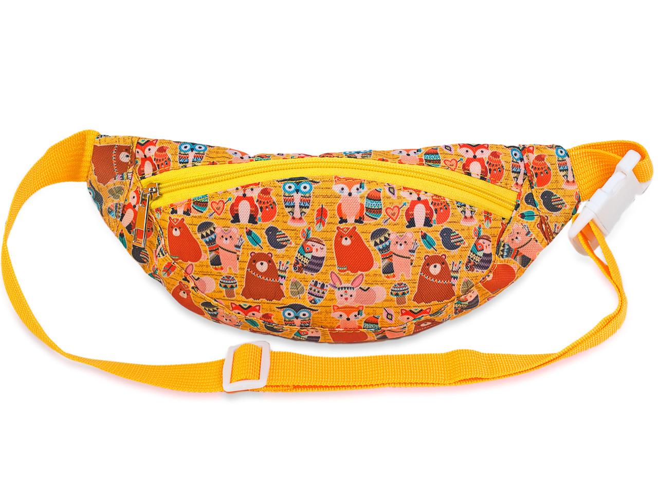 Сумка-бананка для детей ярко-оранжевого цвета с принтом