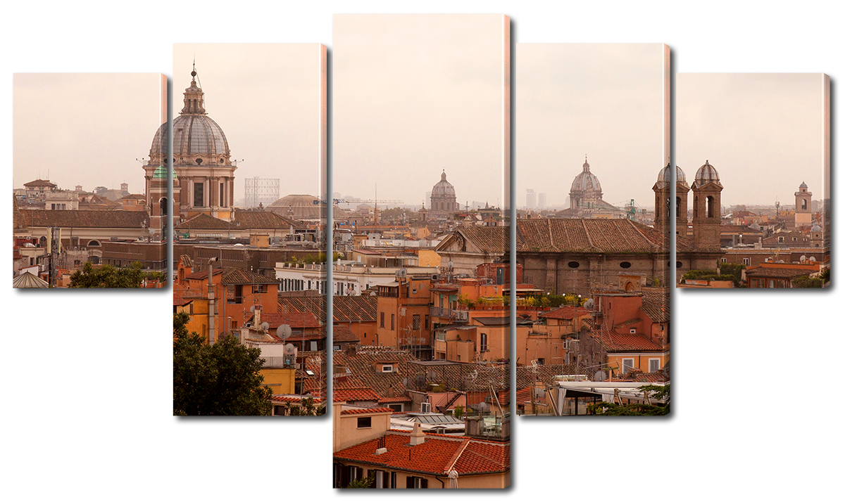 Модульная картина Interno Холст Рим с высоты 185х106см (R1111XXL)