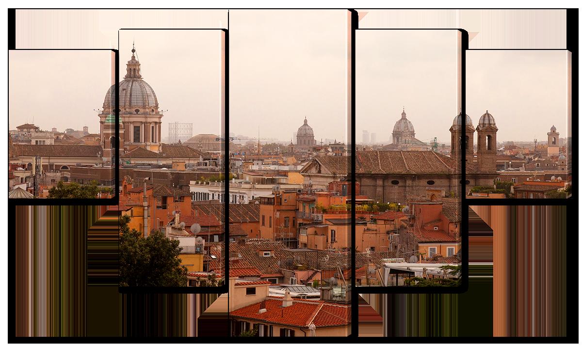 Модульная картина Interno Эко кожа Рим с высоты  142х80см (A1111L)