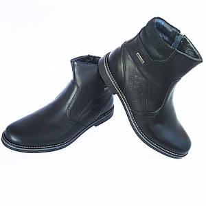 Черные зимние ботинки Krisbut на натуральном меху