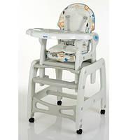 Детский стульчик-трансформер для кормления M 1563 Animal Gray