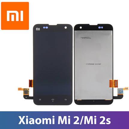 Модуль Xiaomi Mi 2/Mi 2s черный дисплей экран, сенсор тач скрин, фото 2