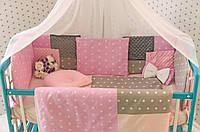 Комплект постельного белья для новорождённых Добрый Сон Eco 3 Minky 1-03