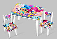 "Столик мини ""Шиммер и Шаин"" С 092 (60*46 см), столик + 2 стула"