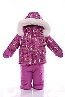 Зимний костюм с меховой подстежкой Ноль Сливовый снеговик