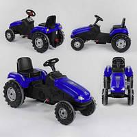 Трактор педальный 07-321 BLUE, клаксон на руле, сидение регулируемое, колеса с резиновыми накладками