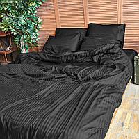 Комплект взрослого постельного белья Блек Страйп ТМ DS Home Line H08P