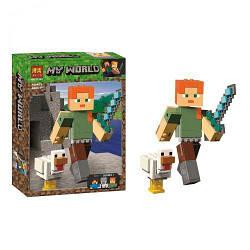 """Конструктор """"My World Minecraft: Алекс"""", 160 дет 11167"""