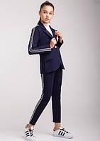 Модный школьный комплект Эвелина на девочку подростка брюки + жакет Размеры 140- 152