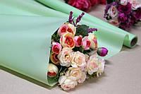 Калька для цветов - матовая флористическая пленка 70см*10м Мятная