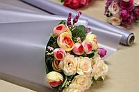 Калька для цветов - матовая флористическая пленка 70см*10м Серый перламутр