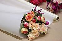 Калька для цветов - матовая флористическая пленка 70см*10м Айвори